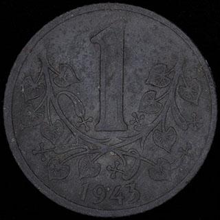 Богемия и Моравия. 1 крона 1943 г. Цинк