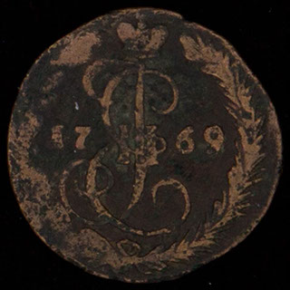 Деньга 1769 г. ЕД. Медь