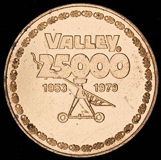 «Valley 25 000». Томпак. Диаметр 44,7 мм.