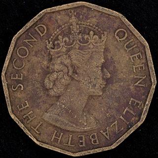 Нигерия. 3 пенса 1959 г. Никелевая латунь