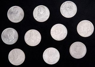 Лот из памятных рублей 1983-1991 гг. 10 шт.