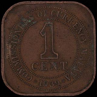 Малайя. 1 цент 1939 г. Медь