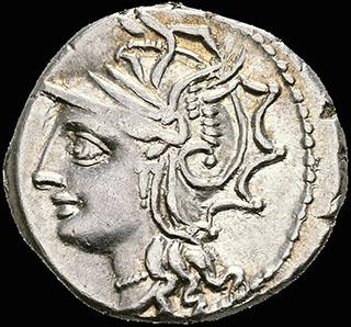 Римская Республика. Монетарий Л. Аппулей Сатурнин. Денарий 104 г. до н.э. Crawf. 317/3 a; Syd. 578. Серебро