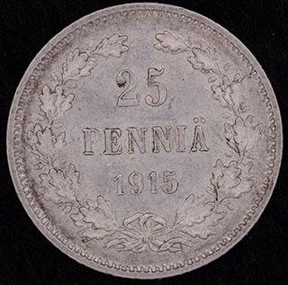 25 пенни 1915 г. S. Серебро