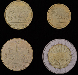 Уругвай. Лот из монет 2011 г. 4 шт.