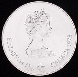 Канада. 5 долларов 1973 г. «XXI Олимпийские Игры. Монреаль». Серебро