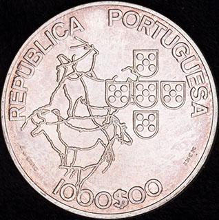 Португалия. 1 000 эскудо 2000 г. «Председательство Португалии в совете ЕС». Серебро