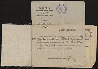 Медицинская книжка на имя И.С. Нечаева