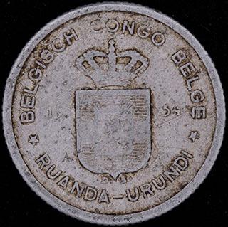 Руанда-Урунди. 50 сантимов 1954 г. Алюминий