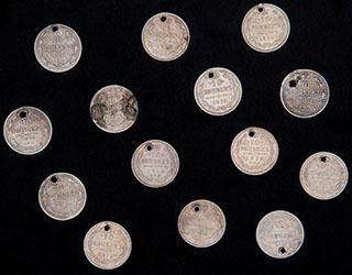 Лот из 10 копеек 1861-1916 гг. 14 шт.