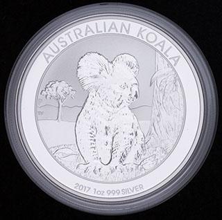 Австралия. 1 доллар 2017 г. «Коала». Серебро