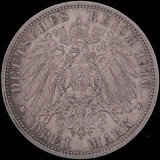 Германия. 3 марки 1910 г. Серебро