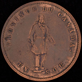 Канада. Провинция Квебек. 1/2 пенни 1852 г. Медь