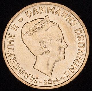 Дания. 20 крон 2014 г. Алюминиевая бронза