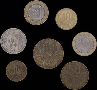Лот из монет Центральной и Южной Америки 1994-2010 гг. 7 шт.