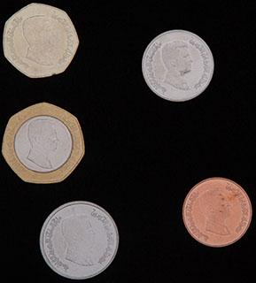 Иордания. Лот из монет 2012 г. 5 шт.