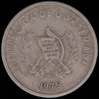 Гватемала. 5 сентаво 1975 г. Медно-никелевый сплав