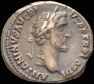 Римская империя. Антонин Пий и Марк Аврелий. Денарий 140 г. RIC 417b. Серебро