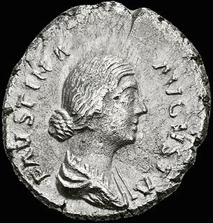 Римская империя. Фаустина Младшая, жена Марка Аврелия. Денарий 161-170 гг. RIC 696. Серебро