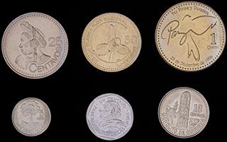 Гватемала. Лот из монет 2000-2007 гг. 6 шт.