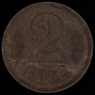 Дания. 2 эре 1919 г. Медь
