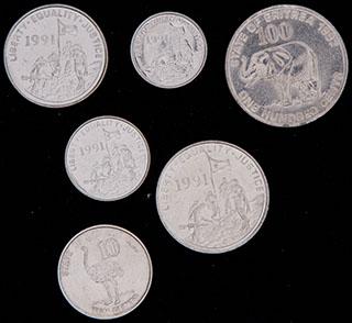 Эритрея. Лот из монет 1997 г. 6 шт.