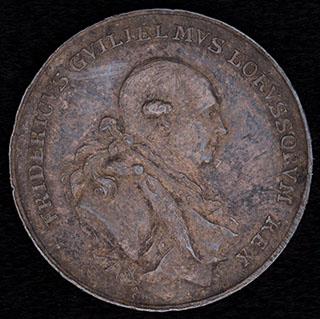 Пруссия. «Взошествие на престол Фридриха Вильгельма II. 1786». Серебро. Диаметр 27,4 мм.