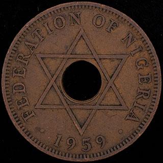 Нигерия. 1 пенни 1959 г. Медь