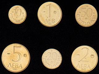 Болгария. Лот из монет 1992 г. 6 шт.