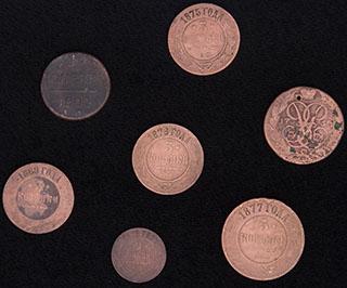 Лот из монет 1757-1876 гг. 7 шт.