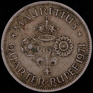 Маврикий. 1/4 рупии 1971 г. Медно-никелевый сплав