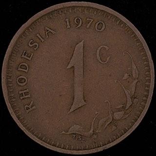 Родезия. 1 цент 1970 г. Медь