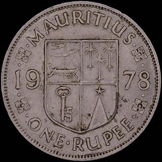 Маврикий. 1 рупия 1978 г. Медно-никелевый сплав