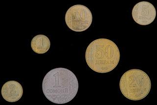 Таджикистан. Лот из монет 2011 г. 7 шт.