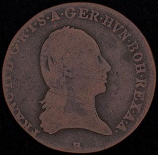 Австрия. 3 крейцера 1800 г. B. Медь