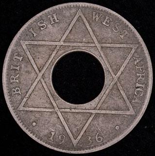 Британская Западная Африка. 1/10 пенни 1936 г. Медно-никелевый сплав