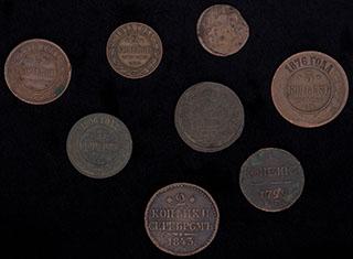 Лот из монет 1760-1915 гг. 8 шт.