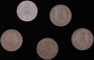 Индия. Лот из монет 1989-1999 гг. 5 шт.