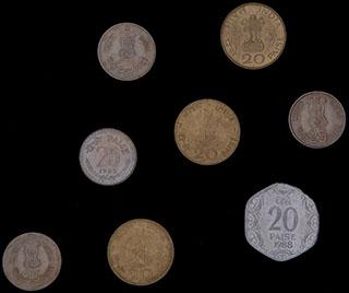 Индия. Лот из монет 1948-1988 гг. 8 шт.