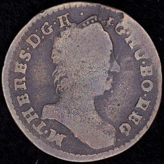 Австрия. 1 крейцер 1760 г. Медь