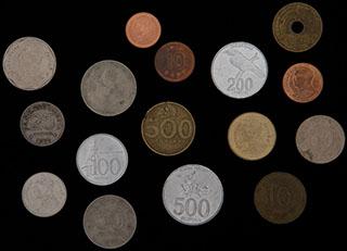 Лот из иностранных монет 1971-2010 гг.