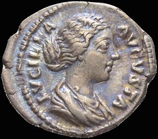 Римская империя. Луцилла, жена Луция Вера. Денарий 164-169 гг. RIC 759. Серебро