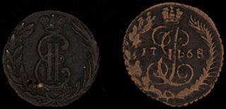 Лот из полушек 1768-1774 гг. 2 шт.