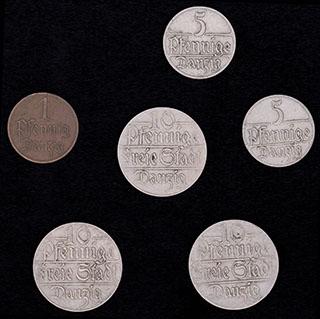 Данциг. Лот из монет 1923 г. 6 шт.