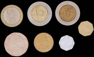 Чили. Лот из монет 2004-2010 гг. 7 шт.