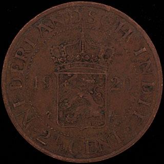 Голландская Ост-Индия. 2 1/2 цента 1920 г. Медь