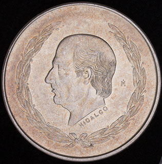 Мексика. 5 песо 1952 г. Серебро
