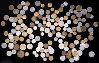 Лот из иностранных монет XX-XXI вв. 159 шт.