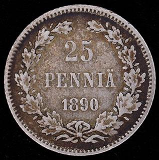 25 пенни 1890 г. L. Серебро