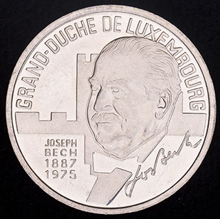 Люксембург. 5 экю 1993 г. Медно-никелевый сплав